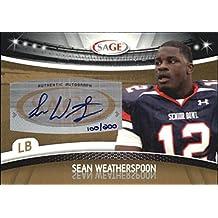 2010 SAGE Autographs Gold #50 Sean Weatherspoon Auto /200 - NM-MT