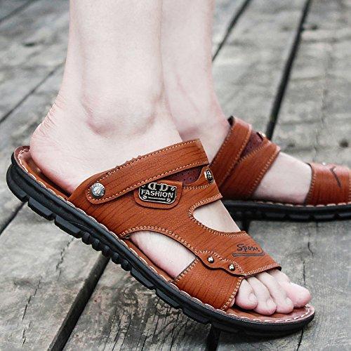 Sandalias Dedo De Antideslizante Hombre Zapatillas De 67862 Verano Sandalias Brown Sandalias Sandals Del c5TBIqqYW