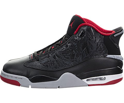 Nike Mens Air Jordan Dub Zero Basketball Shoes (10.5 D(M) US, Black/Gym Red/Wolf Grey) by Jordan