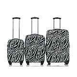 "Rivolite PC 3 Piece Luggage Set: 20"" 24"" 28"" Portable Suitcase Zebra Unique Design The Pringting Design Luggage(Zebra)"