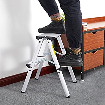 Amazon Com Dporticus Aluminum 2 Step Stool Folding Double