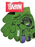 Incredible Hulk Green Knit Boys Winter Gloves
