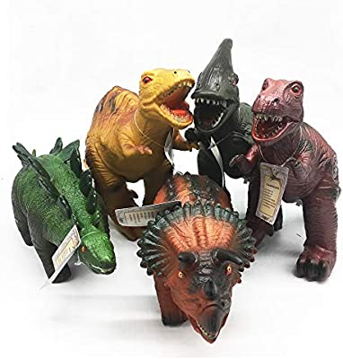 Toys Kingdom Nontoxic Soft Dinosaur Toys 13 To 16 Large Soft Pvc Dinosaurs With Roar Sound For Kids Educational Toy Dinosaurs For Party Favors 0003 2 Buy Online At Best Price In Uae