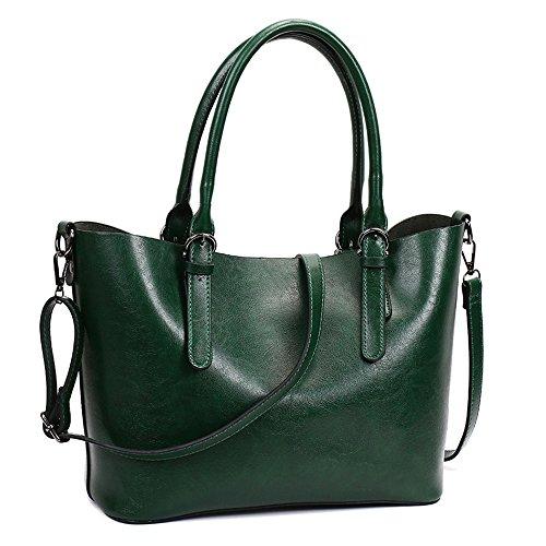 Meaeo La Nueva Moda Bolsos Y Moda Bolso Primavera Bolso Grande Confortable,Impermeable Gris Green