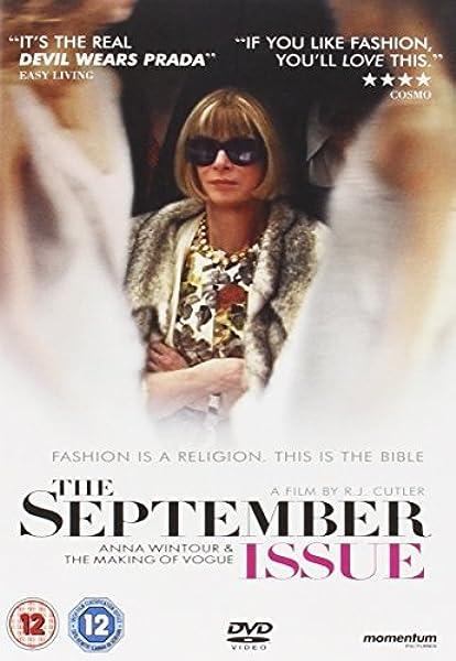 The September Issue [Reino Unido] [DVD]: Amazon.es: Wintour, Anna, Cutler, R.J., Wintour, Anna: Cine y Series TV