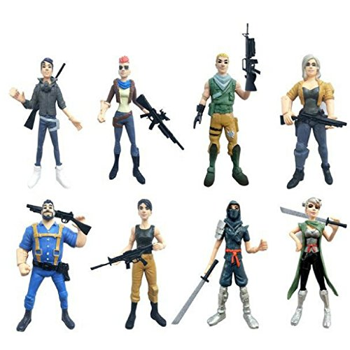 Luxury & Trendy 8pcs/lot Battleroyal Game Llama Figure Toys Halloween Style Fortnight Game Players Night Character Model Doll Toy For Kids