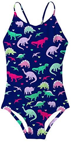 Dinosaur Suit - Girls' One-Piece Swimwear Surf Pattern Toddler