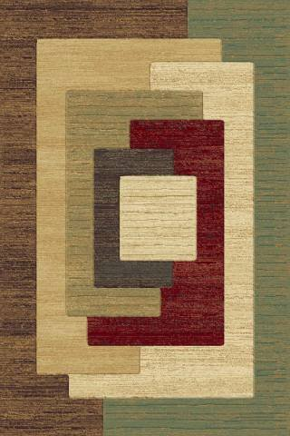 Central Oriental 1909MI69 Shadows Osborn Multicolor 5-Feet 3-Inch by 7-Feet 7-Inch Area Rug - Central Oriental Shadows