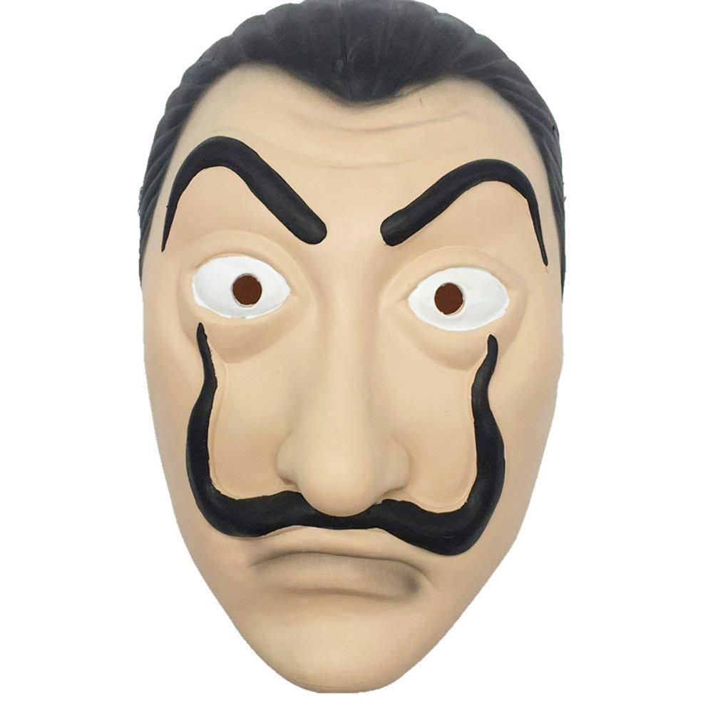 MIMINUO Dali Maschera Dali Mask Latex Mask Salvador Dali Maschera La Casa  De Papel Mascara Realistico Prop Face Mask Novità Cosplay Costume Party  Mask  ... 17a21c9b7ee1