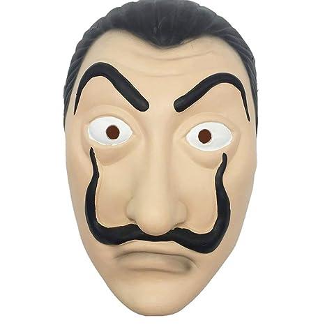 maschera dali casa di carta  MIMINUO Dali Maschera Dali Mask Latex Mask Salvador Dali Maschera La ...