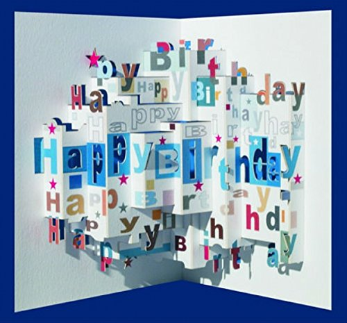 Happy Birthday Cake Popup Card Amazoncouk Kitchen Home – Birthday Cake Pop Up Card