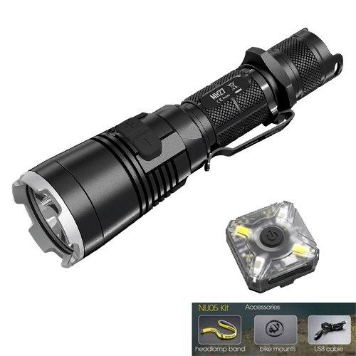 Nitecore MH27 Rechargeable Cree XP-L HI V3 LED Flashlight - 1000 Lumens w/FREE Nitecore NU05 Kit by Nitecore