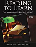 img - for Reading to Learn: Developing College Content Literacy book / textbook / text book
