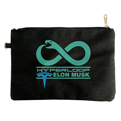 Elon Musk Hyperloop Canvas Zipper Pouch Pencil Case, Make Up Bag, Cell Phone Bag, Travel Toiletry Organizing