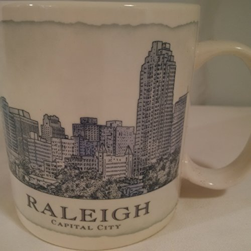 Starbucks XL Mug RALEIGH Starbucks LARGE Mug RALEIGH Collectible CUP 2007 (Scene Large Mug)