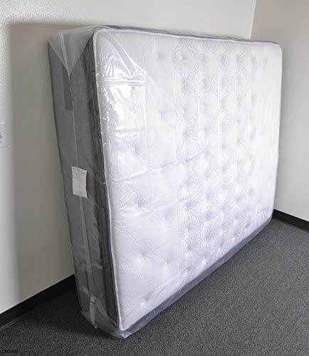 CRESNEL Mattress Bag for Moving & Long-Term Storage - King Size - Enhanced Mattress Protection with 5 mil Super Thick Tear & Puncture Resistance Polyethylene