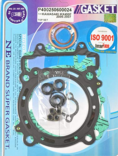 (Top End Head Gasket Kit Kawasaki KX450F KX 450F 2006-2008 06 07 08)