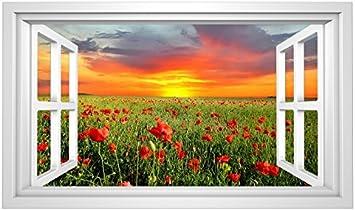 Alles Meine De Gmbh 15 Tlg Set Sticker Wandtattoo Wandsticker Mohnblume Blumen Rot Mohn Mit Stengel Aufkleber Wandaufkleber Fenstersticker Blumenmuster Wohnzimmer Amazon De Spielzeug