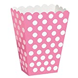 Hot Pink Polka Dot Popcorn Treat Boxes, 8ct