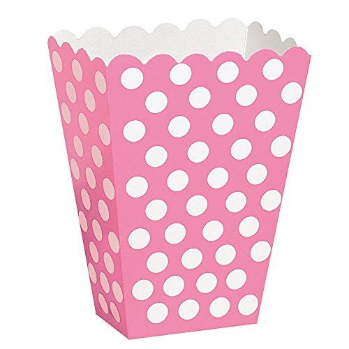 Hot Pink Polka Dot Popcorn Treat Boxes, 8ct