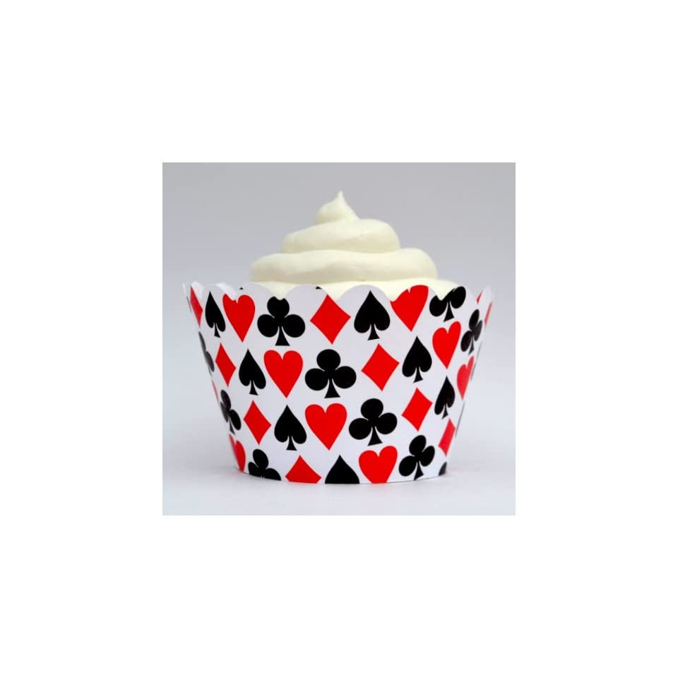 Dress My Cupcake Las Vegas Casino Cupcake Wrappers, Set of 12   Liner Wraps Accents for Cupcakes, Treats, Sweets & Baked Goodies