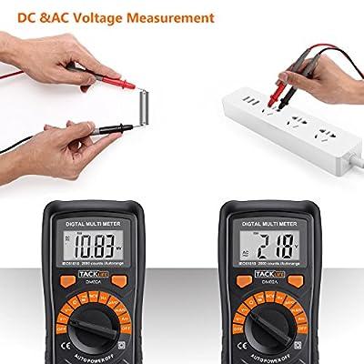 Automatisch Digital Multimeter Tacklife DM02A, mit Berührungslose Spannungserkennung, beleuchtetem LCD-Display…
