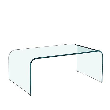 SuperStudio La + deModa Mesa curvatto (Cristal, Cristal ...
