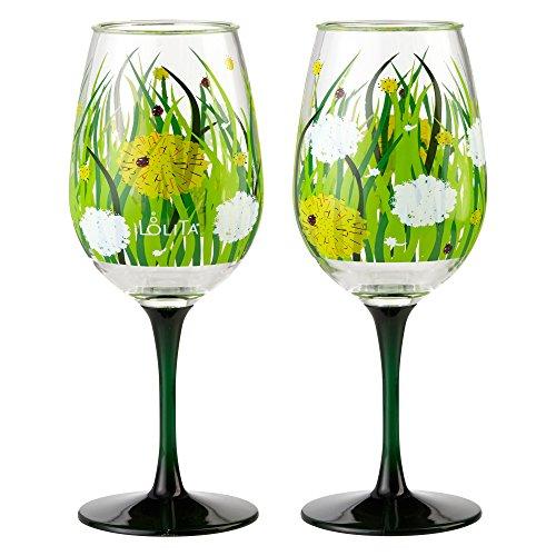 Enesco Designs Dandelion Acrylic Glasses