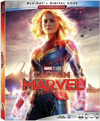 Amazon com: CAPTAIN MARVEL [Blu-ray]: Brie Larson, Samuel L