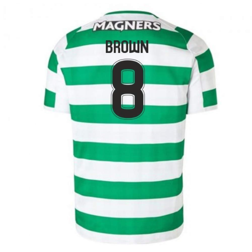 2018-2019 Celtic Home Football Soccer T-Shirt Trikot (Scott Braun 8) - Kids