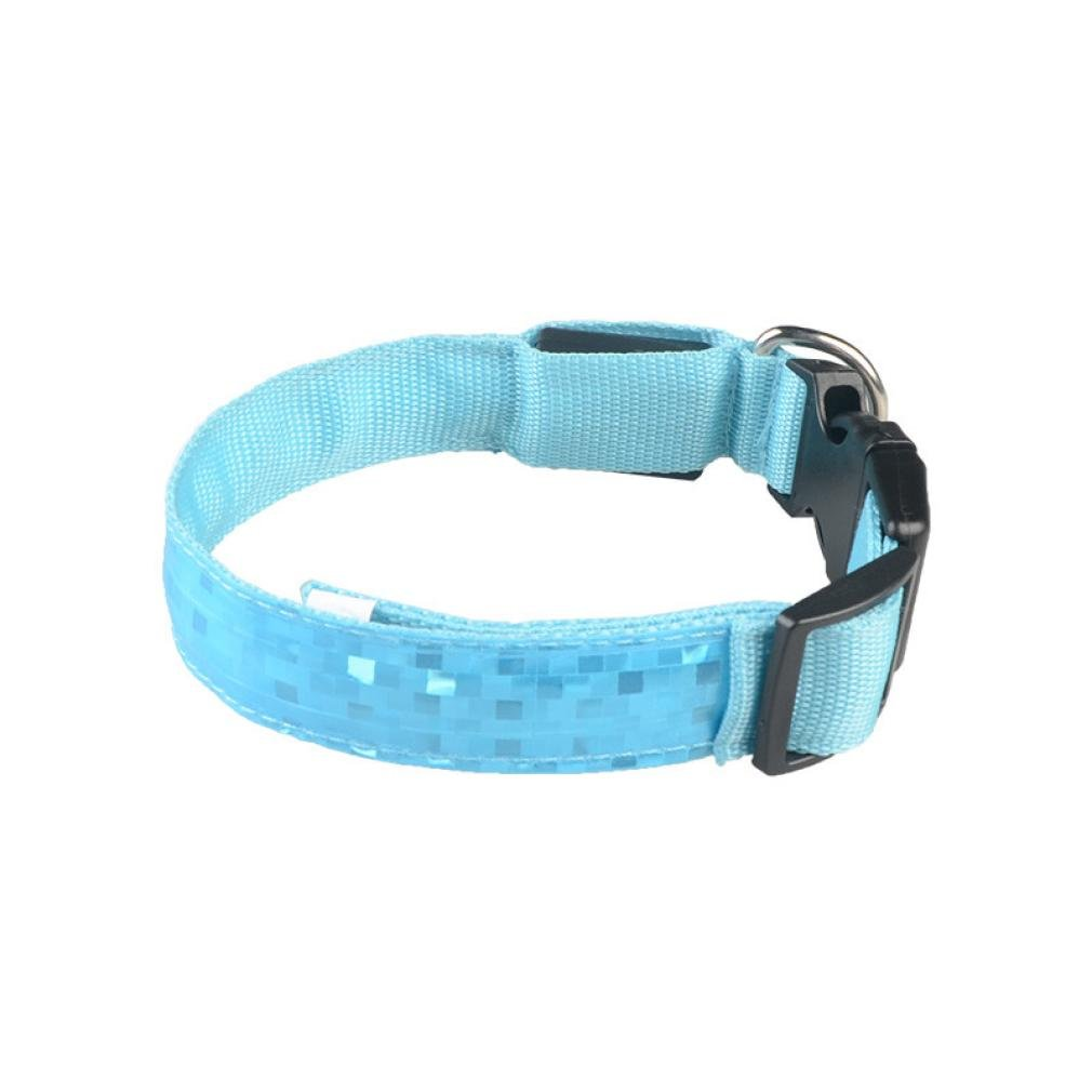 Collar ????Smdoxi Reflective LED Light Band Glow Bracelet Collar Glow In The Dark For Pet!!Yes!! (Blue, S)