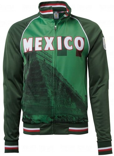 - Men's 2014 Fifa World Cup Soccer Mexico On Frame Sublimation Track Jacket (adult Xx-large)