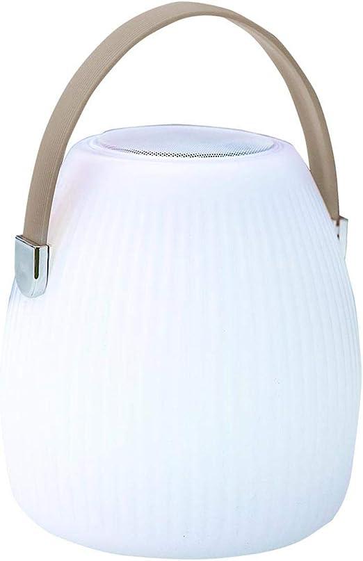 Lumisky linterna, multicolor de jardín inalámbrico sobre batería con altavoz Bluetooth Mini May Play de LED RGB 25 cm, polietileno rotomoulé, color blanco y topo, 18 x 18 x H25: Amazon.es: Iluminación