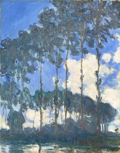 Oil Painting 'Poplars On The Epte,Bright Weather 1891 By Claude Monet' 12 x 15 inch / 30 x 39 cm , on High Definition HD canvas prints is for Gifts - Kiosk Iron Flat