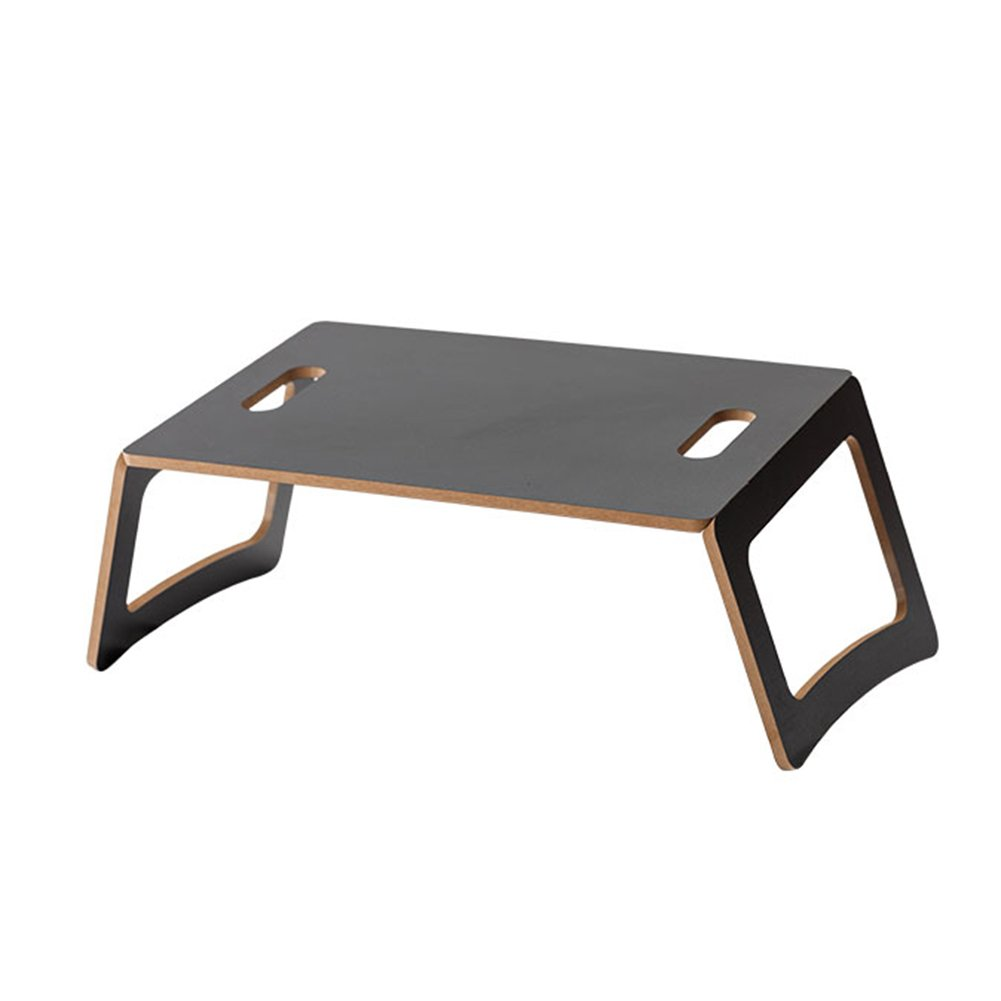 PENGFEI Laptop Stand for Desk Foldable Portable Bed Low Table Learn Jobs College Students Dorm Room Simple, 2 Colors (Color : Black, Size : 58.5x29.5x20.5CM)