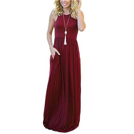 17df60f501ef7 Amazon.com: New Style Femme Boho Long Dress Summer Women Maxi Dress ...