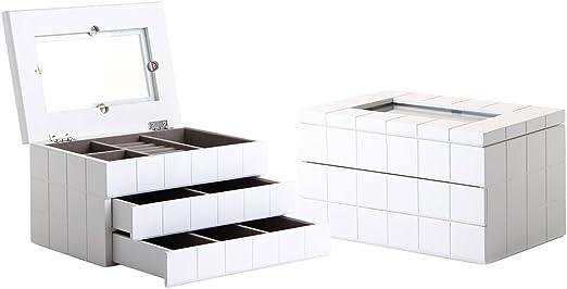 Lola Derek - Caja con joyero moderna blanca de madera para ...