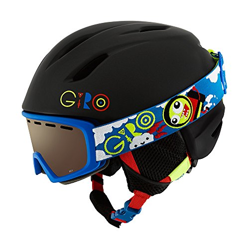 Giro Launch Combo Kids Snow Helmet w/ Matching Goggles Mat Blk/Multi Small (52-55.5 cm)