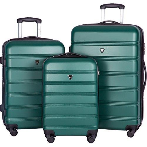 merax-travelhouse-luggage-3-piece-expandable-spinner-set-green