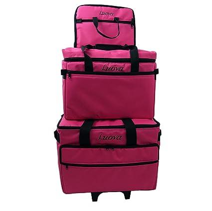 Bluefig 3 Piece Sewing Machine Trolley Set in Pink