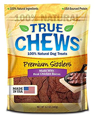 Premium Bacon Chicken Sizzlers Dog Treat Chews 12 Ounces Made In Usa
