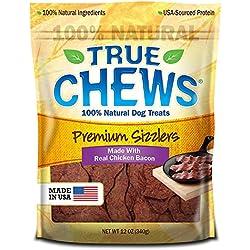 True Chews Premium Sizzlers Dog Treats, Chicken Bacon, 12 Ounce