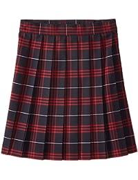 Girls' Plaid Pleated Skirt