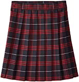 French Toast Big Girls' Plaid Pleated Skirt, Navy/Red, 14