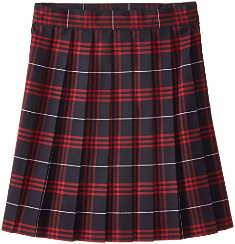 French Toast Big Girls' Plaid Pleated Skirt, Navy/Red, 14 by French Toast