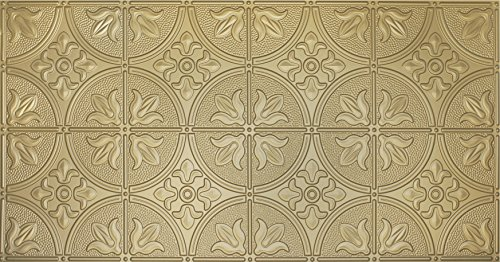 Global Specialty Products Pattern No.309 Tin Style Panel, 2 by 4-Feet, Brass (Brass Backsplash)