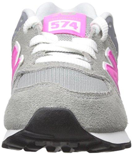 New Balance 574- Zapatillas casual para niña 47913 Gris-Rosa