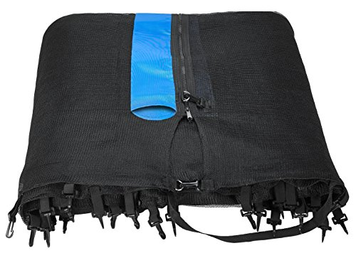 Upper Bounce Round 7.5' Trampoline Enclosure Safety Netting Replacement Fence Fits 7.5 FT - 6 Straight Poles, Installs Outside of Frame (poles not included) by Upper Bounce