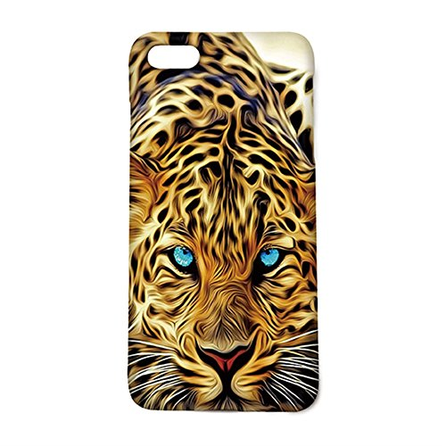 Leopard With Authentical Blue Eyes Wild Animal Pattern Iphone 6 Plus Case, Attactive Iphone 6Plus 5.5Inch Protective Cover