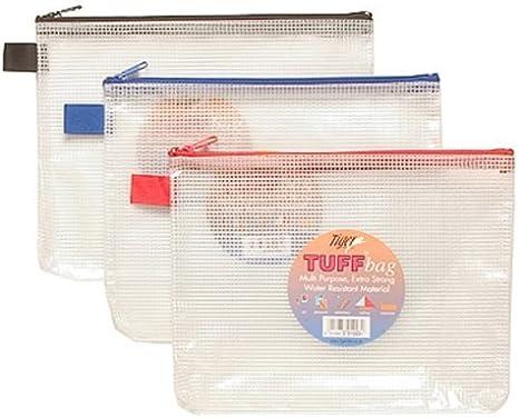 Tiger 301023 - Estuche de plástico (A5, resistente al agua, material de malla reforzada), 1 unidad, colores surtidos: Amazon.es: Oficina y papelería